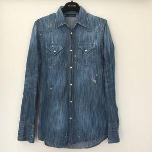 Dsquared2 men's denim shirt . Size 44IT